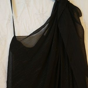 Sexy Black dress with a sheer outer layer - new
